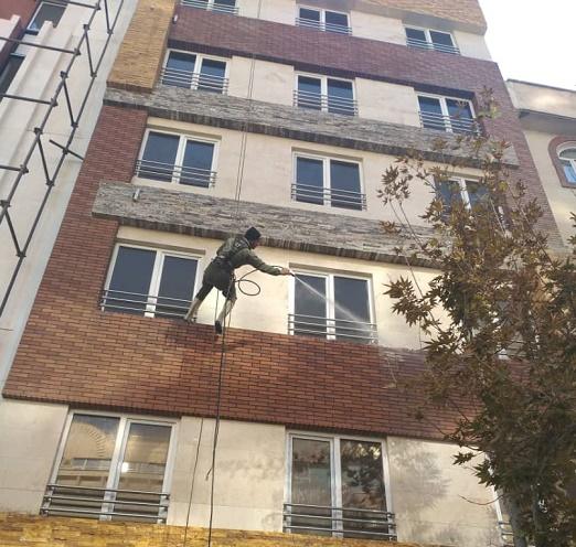 نماشویی ساختمان در شرق تهران